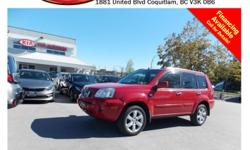 Trans Automatic 2006 Nissan X-Trail with fog lights, alloy wheels, tinted rear windows, power locks/windows/mirrors, panoramic sunroof, dual control heated seats, A/C, CD player, tape deck, AM/FM stereo, rear defrost and so much more! STK # 76104A DEALER