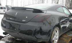 """DISMANTLING 2006 PONTIAC G6 GT COUPE FOR PARTS, GOOD ENGINE AND TRANNY, 179K, GOOD INTERIOR, DOORS AND REAR END, 17"""" ALU RIMS, REASONABLE PRICES, (613)761-0359."""