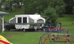 For Sale 2006 Rockwood Freedom Tent Trailer Excellent Condition, well cared for all vinyl Camper Trailer This Camper offers an awning, fridge, 3 burner stove, furnace,electric water pump,overhead storage compartment that hangs from the ceiling, full