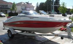 2006 Sea Ray 185 bowrider for sale, $15,500 obo. 4.3 litre Mercruiser (190hp) with turn key start. Excellent condition. Clarion stereo with detachable faceplate, only 125hrs, snap out carpet, cleaned and engine flushed after every use, winterized in fall