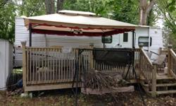 2006 sunny brook 27 ft camping trailer fully loaded,everything works excellent condition,20 x 10 deck gazebo swing,bbq,shed everything you need to enjoy,its on a seasonal lot in cobden ont,muskrat lake! l/f truck even trade or truck and cash or just cash!