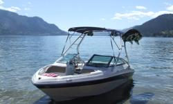 Purchased in 2008 for 33,000 in Kelowna. This boat is immaculate and has only 130 hrs. Has a 190hp mercury motor and runs great. Hide away hitch, Bolster seats, folding wake tower, walk through bow rider with snap out carpet. Comes with 19 and 21 degree
