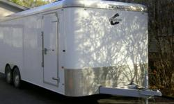 2007 20ft Charmac enclosed cargo trailer. - dual 5000lbs torsion bar axles - electric brakes on all 4 wheels - led lights - side man door - interior lights - rear barn doors - very heavy duty and in new shape - very low miles - 3/4 plywood floor - sheeted