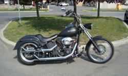 """2007 Harley Nightrain. FXSTBI We will help you ship! Quotes available.   This Bike is loaded in extra's!! 96""""motor, 6speed transmission. Black 1.25""""Fat  16""""Apes. Braided lines. Custom Forward controls, grips and levers. Fatboy rear fender. Big gun 3"""