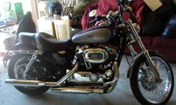 EXCELLENT CONDITION 1200 HARLEY DAVIDSON SPORTSTER   ALARM SYSTEM   QUICK DETACH WINDSHIELD   HARLEY COVER   LOW KMS (5200)   NEW OIL & SAFETY   NEVER DUMPED   RUNS LIKE A CHARM   MUST SELL NEW BIKE IS IN :)   $7900.00 OBO   PLEASE CALL OR EMAIL   LOCATED