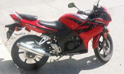 2007 Honda CBR125R. Excellent bike for beginners. Mint condition except for some scratch marks on the right side of the front fairing where previous owner dropped it. Less than 21400Km on the clock. Front tyre was changed at 21000km. Oil changed on 30th