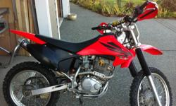 2007 CRF 230F This bike is in great shape. After market plastic, seat and handle bars. BBR racing pipe, carb jetting, rev box. Both the front and rear suspension are also upgraded. Brand new rear tire. This is a fast bike and handles much better than