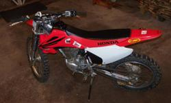 FOR SALE 2007 HONDA CRF 230 DIRTBIKE WELL MAINTAINED NEVER DRIVEN HARD HAVE PAPERS FOR IT 3000.00 PLEASE CALL 897-6756 THANKS