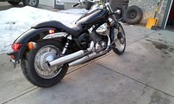 Very nice black 2007 Honda Shadow Spirit 750 with 7200km just passed AB gov inspection. Bike show priced at $3900.00 will be more in the spring.