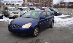Make Hyundai Model Accent Year 2007 Colour Blue kms 149500 Trans Automatic 2007 Hyundai Accent with 149500 km , Automatic . Will come Certified . Come Visit Us Today 916 Montreal Road Ottawa Ontario We are here to Serve you and help you get behind the