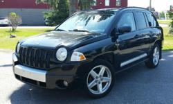 Make Jeep Model Compass Year 2007 Colour Black kms 166030 Trans Automatic 2007 Jeep Compass Limited Heated leather seats & Sunroof! 2.4l 4 cylinder, Automatic, ABS, A/C, Power windows/locks/mirrors. 166,030 km. Certified with E-Test included. Taxes are