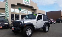 """Make Jeep Model Wrangler Year 2007 Colour SILVER kms 111159 ONLY 111K, 3.8L V6, 6-SPD Manual Transmission, Cruise Control, CD Player, Aux Input, Tilt Steering, Intermittent Wipers, 17"""" Aluminum Wheels, Tow Pkg, ABS Brakes, Traction/Stability Control,"""