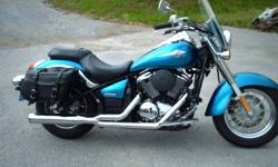 This vulcan has a few extras including Cobra exhuast,windshield,saddlebags and chrome accents.Exellent condition.