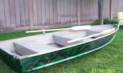 12ft  legend aluminum boat used only a couple of time's. LIKE NEW!. great boat for camping, fishing and portaging. painted camoflauge. comes with two new oars. if interested contact at 905-377-9263 ask for Dean $700 FIRM