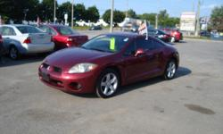 Make Mitsubishi Model Eclipse Year 2007 Colour Burgandy kms 220500 Trans Automatic 2007 Mitsubishi Eclipse with 220500 km , 5 Speed and A/C .Will come Certified . Come Visit Us Today 916 Montreal Road Ottawa Ontario We are here to Serve you and help you