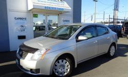 Make Nissan Model Sentra Year 2007 Colour Grey kms 114220 Trans Automatic Super Clean!! Local Langley Car with NO Accident Declarations!! Only 114,220 Kms.. 2007 Nissan Sentra 2.0 S, 2.0L 4 Cyl. Automatic, Options Include Air Conditioning, Cruise Control,
