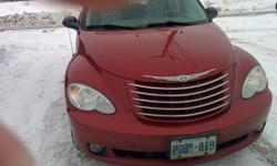 Make Chrysler Colour Red Trans Automatic kms 161000 2007 PT Cruiser GT , Last year of the High output turbo GT's. Fully loaded , leather, power driver seat, heated front seats, power sun roof, 17&quot chrome clad rims, built for a Chrysler exec spouse.