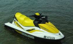 2007 Seadoo GTI SE with only 37 hours * 130 HP Rotax 4-Tec EFI four stroke engine with reverse * Closed loop liquid cooled * 3 seater * EZ Loader Galvanized trailer with bearing buddies * SE PACKAGE: Multifunction Digital Information Center, adjustable