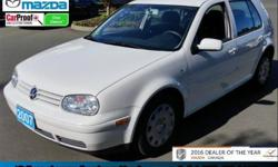 Make Volkswagen Model Golf City Year 2007 Colour Candy White kms 121606 Trans Manual Price: $7,999 Stock Number: 16CX58160A Interior Colour: Black Five-Speed Manual - AM/FM Stereo Radio - Illuminated Entry - Variable Intermittent Wipers - and Much More!