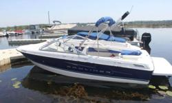 mint condition, 3.0 liter merc,alpha one drive, less than 30hrs. on boat,includes trailer,swim platform,bimini top and mooring covers. bought new in dec.08 put in the water in 09.cost over$33,000 to buy new
