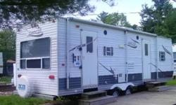 """Mint condition, sleeps 4 with 2 slide out, hugh bed room with king size bed, surround sound with 4 speakers 19"""" LCD TV, DVD/CD player with out door speakers. 2 swivel rockers in Living room dinning area, everything is loaded. Bought new in 2008 for over"""