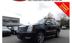 Trans Automatic 2008 Cadillac Escalade with alloy wheels, fog lights, tinted rear windows, running boards, roof rack, leather interior, power locks/windows/mirrors/seats, sunroof, steering wheel media controls, backup camera, Bluetooth, dual control