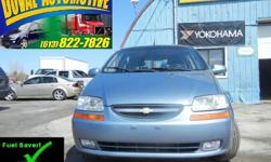 Make Chevrolet Model Aveo5 Colour Blue Trans Manual kms 126000 2008 Chevrolet Aveo LS 5 with only 126,000kms. FWD, DOHC. New tires, clutch, brakes. Safetied & Etested. On sale now for $3750 + HST. 613-822-7826 (Mon-Fri, 8am-5pm) or 613-220-8023 (After