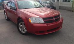 Make Dodge Model Avenger Year 2008 Colour red kms 117000 Trans Automatic well equipped with power windows and locks, AC, cruise control, power mirros, Keyless entry. Safety and etest included! SIMPLE PRICING ,ASKING PRICE +HST & LICENSING *Bilingual, no