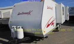 2008 Cruiser RV Coyote Fun Finder X 230DS Travel Trailer for sale. This 23' unit is in excellent condition and has a dry weight of approximately 4,198 lbs. Features include: - Sleeps up to four (queen bed plus sofa that converts to bed) - Kitchen includes
