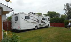 2008 r/v Georgetown motor home 34ft..2 pull out 21000km generator Cummings 4000(hardly used) spare tire 19 in. all inclusive ..dishes...linen..ect....outside carpets.. chairs... full fridge/freezer ..flat screen 42in, t.v ...very clean.. only one owner