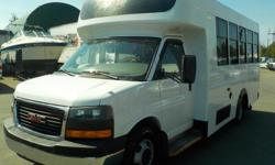 Make GMC Year 2008 Colour White Trans Automatic kms 350192 Stock #: BC0030338 VIN: 1GDJG316181228742 2008 GMC Savana G3500 13 Passenger Bus with Wheelchair Accessibility Diesel, 6.6L, 8 cylinder, 2 door, automatic, RWD, cruise control, air conditioning,