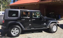 Make Jeep Model Wrangler Year 2008 Colour Black kms 170000 Trans Automatic Well maintained, 4 X 4, Freedom top, also comes with an unused new soft top, 4 door, a/c, power windows, keyless entry, CD player, aux input, new winter tires, good summer tires