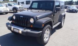 Make Jeep Model Wrangler Year 2008 Colour Black kms 118081 Price: $19,710 Stock Number: BC0027597 Interior Colour: Grey Cylinders: 6 Fuel: Gasoline 2008 Jeep Wrangler Sahara, 3.8L, 6 cylinder, 2 door, automatic, 4WD, 4-Wheel ABS, cruise control, air