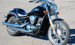 2008 Vulcan 900 motorcycle for sale. Excellent condition. 15, 000 km. Original stock model. No modifications have been made to this bike. Features a 903cc fuel-injected, V-twin engine powered through a 5-speed transmission and smooth, reliable belt