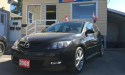 Make Mazda Model 3 Year 2008 Colour Black kms 143828 Trans Automatic Hellllooooo Ottawaaa!! This is the car you've been looking for! Amazing gas mileage and very reliable. AM/FM Stereo, Dual Airbag, Intermittent Wipers, Power Brakes, Power Steering, Rear