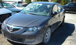 DISMANTLING 2008 MAZDA 3 FOR PARTS, ONLY 80K, AUTO, AIR, FRONT END DAMAGE, GOOD ENGINE AND TRANNY, GOOD WINTER TIRES, REASONABLE PARTS PRICES, (613)761-0359.