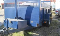 Hi, up for sale is a miska 7 ton dump trailer with tandem axles, electric brakes, d hooks in box, dual ramp/ barn doors, manual tarp, pinto hook hitch, hydraulic dump with battery back up power. I have used this trailer a total of 25 times since I bought