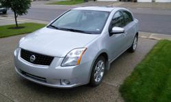 Make Nissan Model Sentra Year 2008 Colour Grey kms 156500 Trans Automatic One owner vehicle in very good condition, very clean. 156,500 km. Features CVT transmission, A/C, sun roof, steering wheel audio and and cruise control buttons, bluetooth, remote
