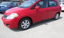 Make Nissan Model Versa Hatchback Year 2008 Colour RED kms 63000 Trans Automatic ONLY 63,000 KM, 4 CYL, MANUAL, LOADED, MUCH MORE, FAMILY OWNED AND OPERATED CELEBRATING OVER 30 YEARS OF BUSINESS, **NO FEES** (tax not included) If you prefer to text