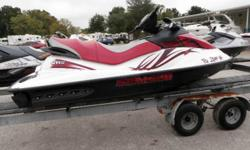 SEADOO 155 GTI SE WITH 69 HOURS. COMPRESSION GOOD ON ALL CYLINDERS. VERY GOOD SHAPE. SE MODEL WITH STEP LADDER AND UPGRADED ELECTRONIC FUNCTION ON DASH. 3-SEATER, 4-STROKE, RED GRAPHICS. QUIET ENGINE. ENOUGH POWER TO TUBE AND SKI. TRAILER IS AVAILABLE.