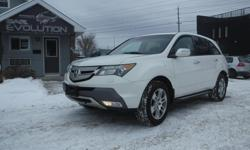 Make Acura Model MDX Year 2009 Colour WHITE kms 185800 Trans Automatic 6 MONTHS WARRANTY WITH PURCHASE FOR FREE ! 2009 ACURA MDX TECH pkg , LOADED 7 PASSENGERS FINE AWD SUV !! V6 3.7L ENGINE PERFECT LUXURY FAMILY SUV ! WITH AUTOMATIC TRANSMISSION, FULLY