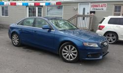 Make Audi Model A4 Year 2009 Colour blue kms 137521 Trans Automatic Just traded 2.0T Quattro, loaded with Navigation, Back up camera and sensors, sunroof, heated/power seats, memory seats, power windows and locks, AC, cruise, key less entry Safety and