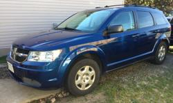 Make Dodge Model Journey Colour BLUE Trans Automatic kms 64000 LOW MILEAGE AND INCLUDES MECHANICAL FITNESS, 10 YEAR WARRANTY ON CATALYTIC CONVERTER, DOUBLE ZONE COLD AIR CONDITIONING, UNDERCOATED FROM NEW. POWER WINDOWS, 7 PASSENGER