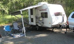 """For sale is my 2009 Fun Finder X-139 that I bought new in Oct 2010. Looking to upsize as we had a recent addition to the family. This is a very light trailer weighing in at 2,253 lbs dry. Exterior length is 14' 9"""". Has 25 Gal Fresh water tank, 32 Gal Grey"""