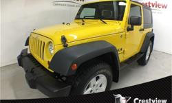 Make Jeep Model Wrangler Year 2009 Colour Detonator Yellow kms 52143 Trans Automatic Price: $21,793 Stock Number: PP1176A Interior Colour: Dark Slate Grey & Medium Slate Grey Cylinders: 6 Low KMs, PST Paid, No Accidents, Air Conditioning, 4-Wheel Disc