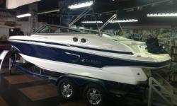 2009 LARSON 218 LXI (new)   5.7L (320hp) GXI Volvo Penta Sporty performance with contemporary styling   Full warranty Bow and cockpit covers Tilt Steering pop up cleats Bimini top Docking lights Matching trailer with elec brakes and swing tongue Satellite