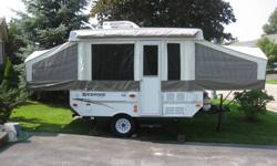2009 Rockwood Freedom Forest River.Rare Find .New Condition used 3 times.Roof Top Air Conditioner,Auto roof lift.Bearing Buddies.Propane Furnace,3 way fridge,3 burner stove and sink in cabinet. Fantastic Fan. Inside and outside shower with electric