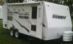 This is a 2009 Rockwood Roo 21RS.  It is in great shape and has many extras including a ducted 13500 btu air conditioner, skylight in bathroom, oven, microwave, awning, heating holding tanks, 19 inch LCD TV with cable /satellite hook-up, AM/FM/CD/DVD