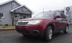 Make Subaru Model Forester Year 2009 Colour RED kms 181000 Trans Manual 6 MONTHS WARRANTY WITH PURCHASE FOR FREE ! 2009 SUBARU FORESTER PREMIUM PACKAGE, 4 CYLINDER 2.5L ENGINE EASY ON GAS, ALL WHEELS DRIVE ((AWD)) !! LOADED WITH 5 SPEEDS TRANSMISSION,