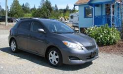 Make Toyota Model Matrix Year 2009 Colour Graphite kms 132805 Trans Automatic Local to Vancouver Island car. This car has received and used car safety with oil change and wiper inserts replaced. The Toyota Matrix was re-designed for 2009. Smooth and quiet